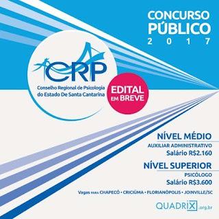 inscrições Concurso Público CRP SC 12ª Região
