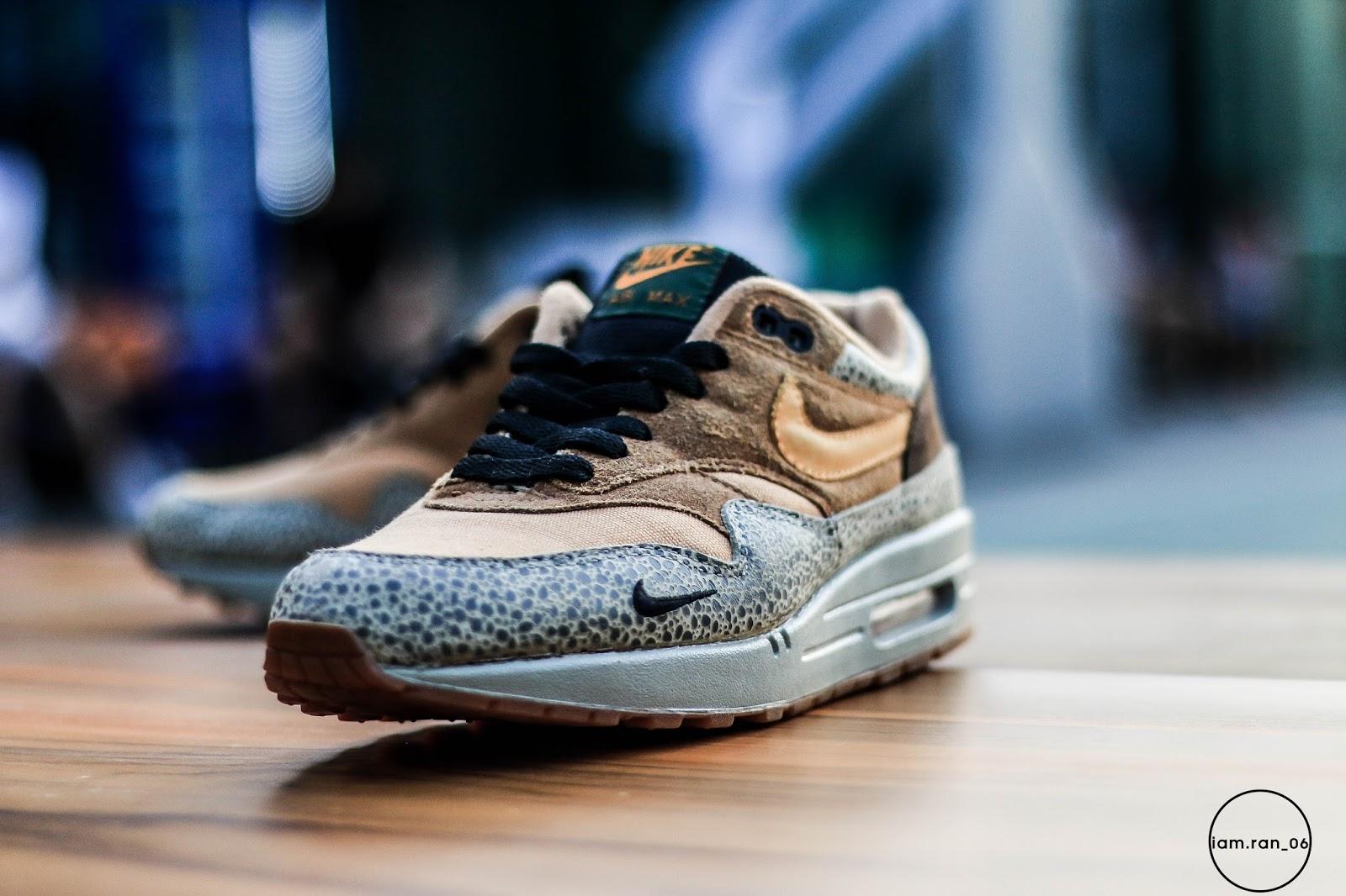 IAM RAN: Anggie Raditya Nike Air Max 1 Safari x Atmos