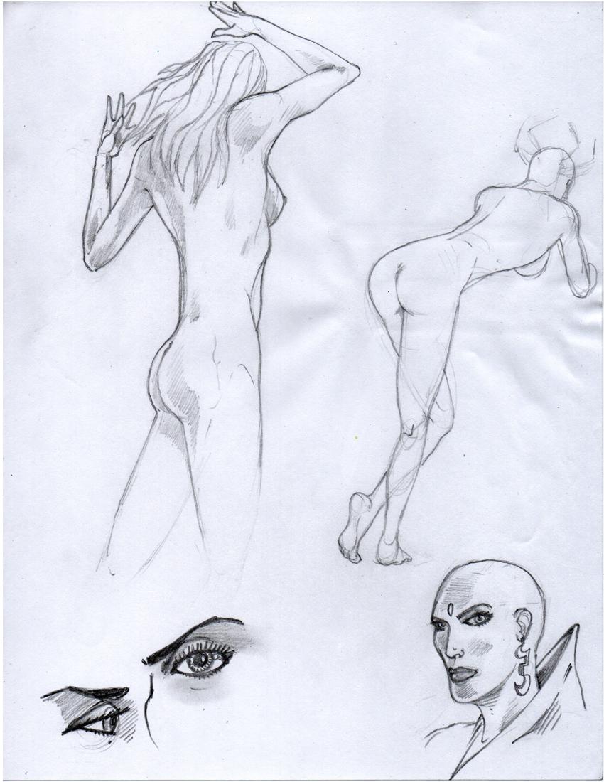 Dennis M. Sweatt Comic Book Creations and Design!: Anatomy Sketching ...
