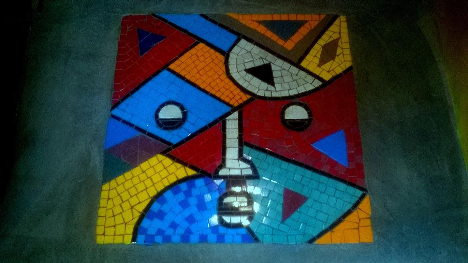 Arte mosaicos mosaicos para pisos - Pintura para mosaicos piso ...