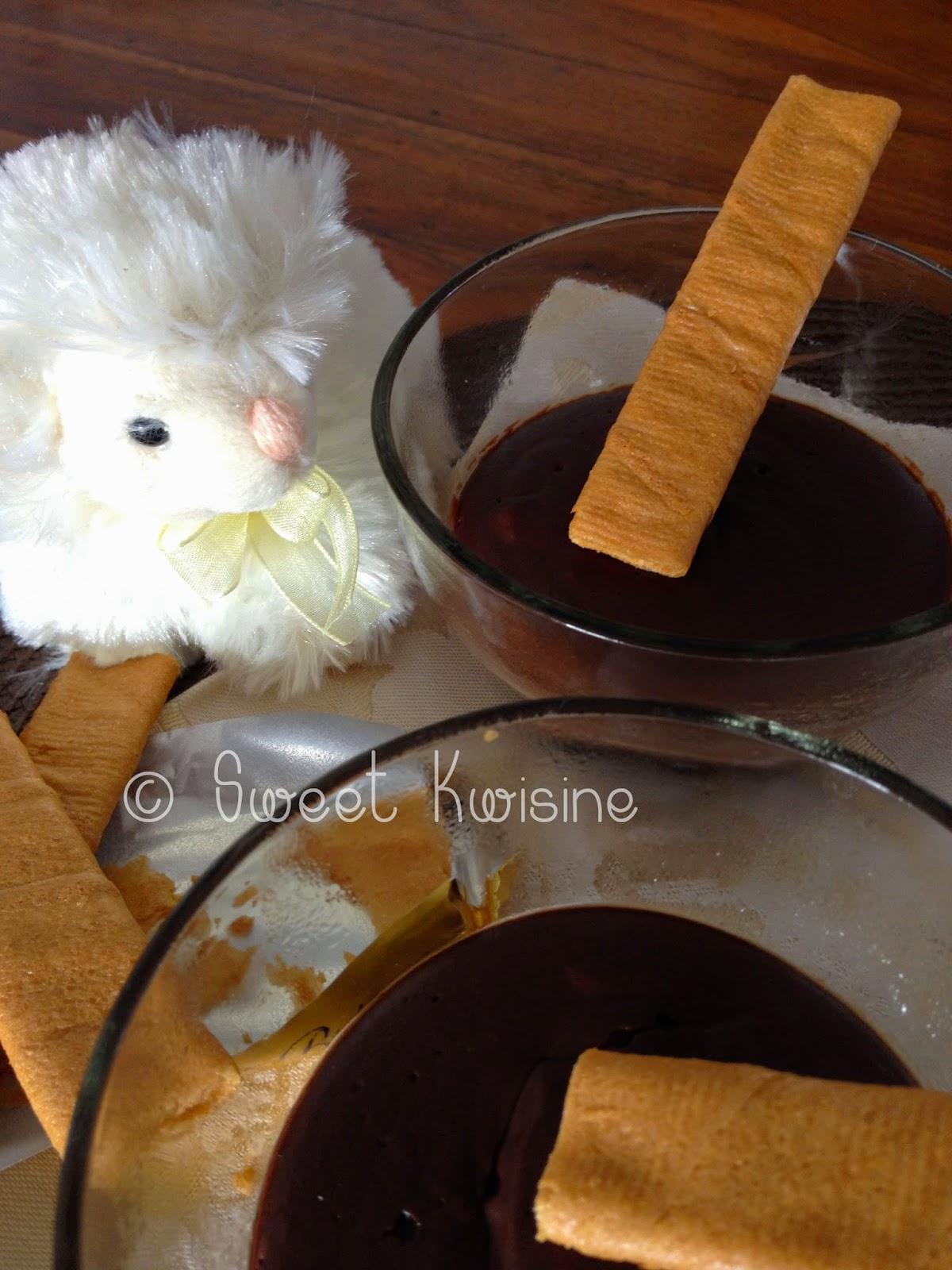 Sweet Kwisine, crème chocolat, sans oeuf, Danette, egg free, chocolate cream, dessert, cuisine facile