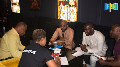 Banky W Lands Another Movie Role, As T Boss Joins Him On Set - Image ~ Naijabang