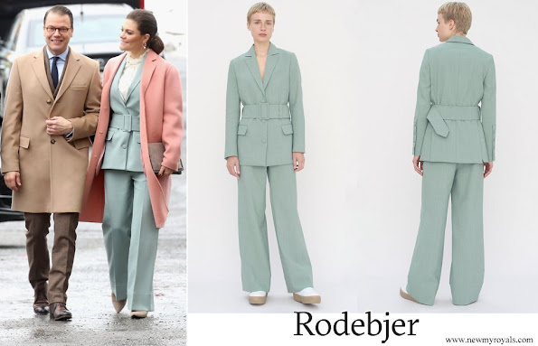 Crown Princess Victoria wore RODEBJER blazer anitalia suit