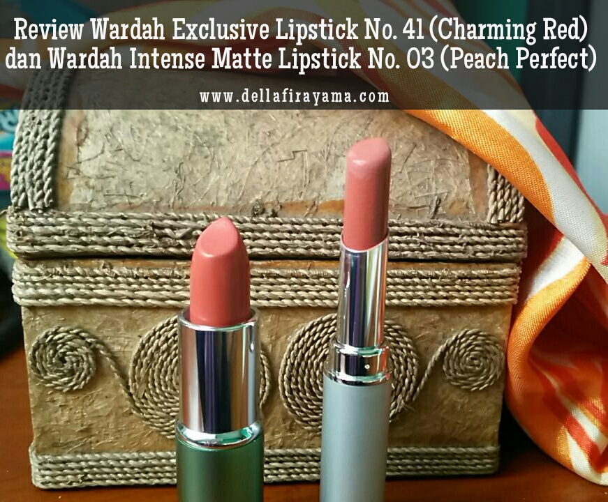 Review Wardah Exclusive Lipstick No 41 Charming Red Dan