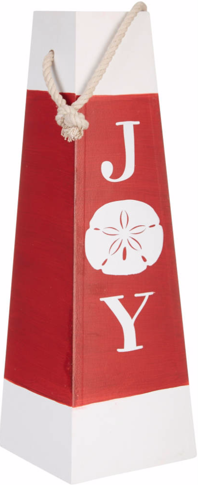 Red and White Christmas Buoy