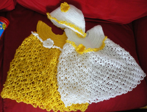 Baby Dress - Solomon's Knot - Free Pattern