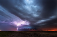 Supercell and Lightning over Texas