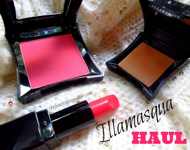 Illamasqua Powder Blusher in Hussy, Illamasqua Lipstick in Scandal, Illamasqua Under Eye Concealer in 200