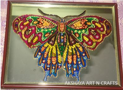 Butterfly Glass Painting on Mirror