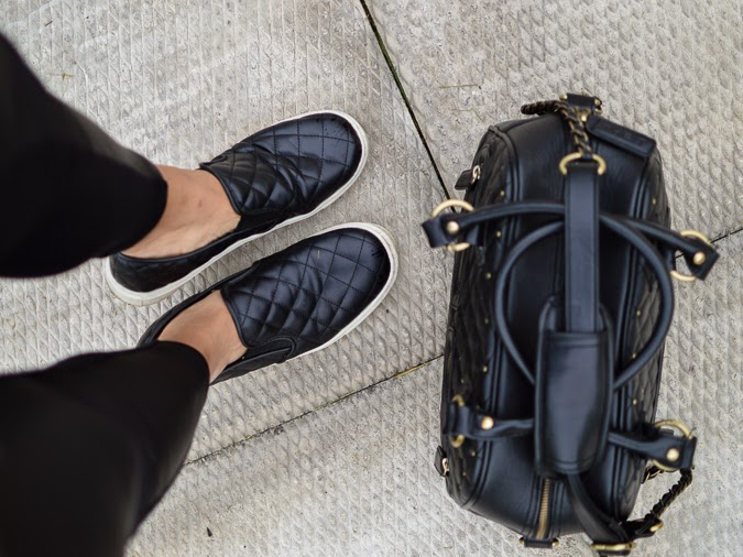 This season's biggest trend: Leather slip on sneakers via The-Lifestyle-Project.com