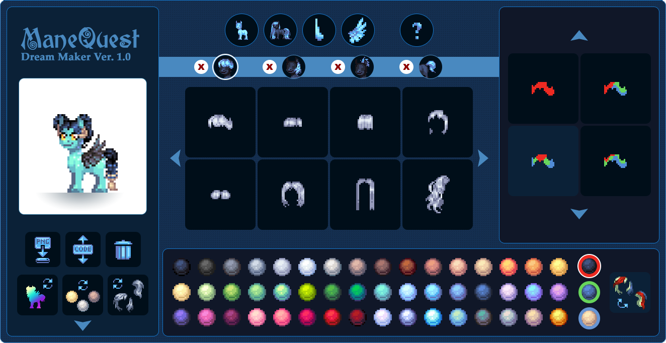 Equestria Daily - MLP Stuff!: Pixel Pony Creator Now Up