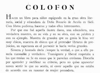 Fragmento del texto incluido en el libro Rosario de Acuña en la escuela