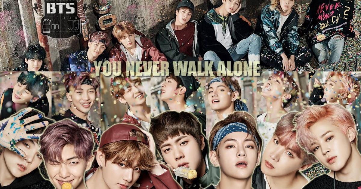 K Pop Lover Bts You Never Walk Alone Wallpaper