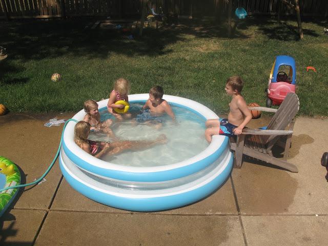 The Kerrie Show: Backyard Blow-up Pool Fun
