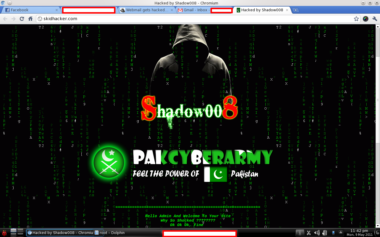 2 famous Hackers site has been hacked by Shadow008(PCA ...