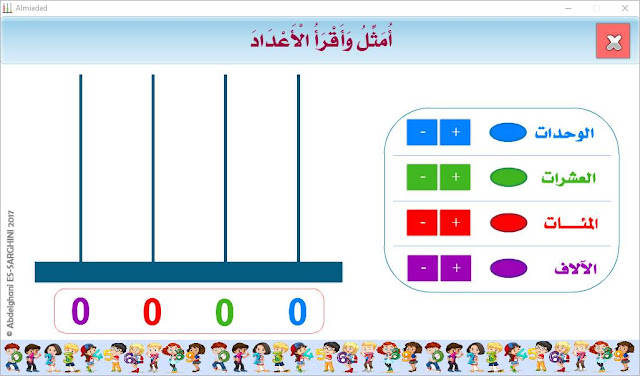 المعداد مورد رقمي لتمثيل وقراءة الأعداد من 0 إلى 9999