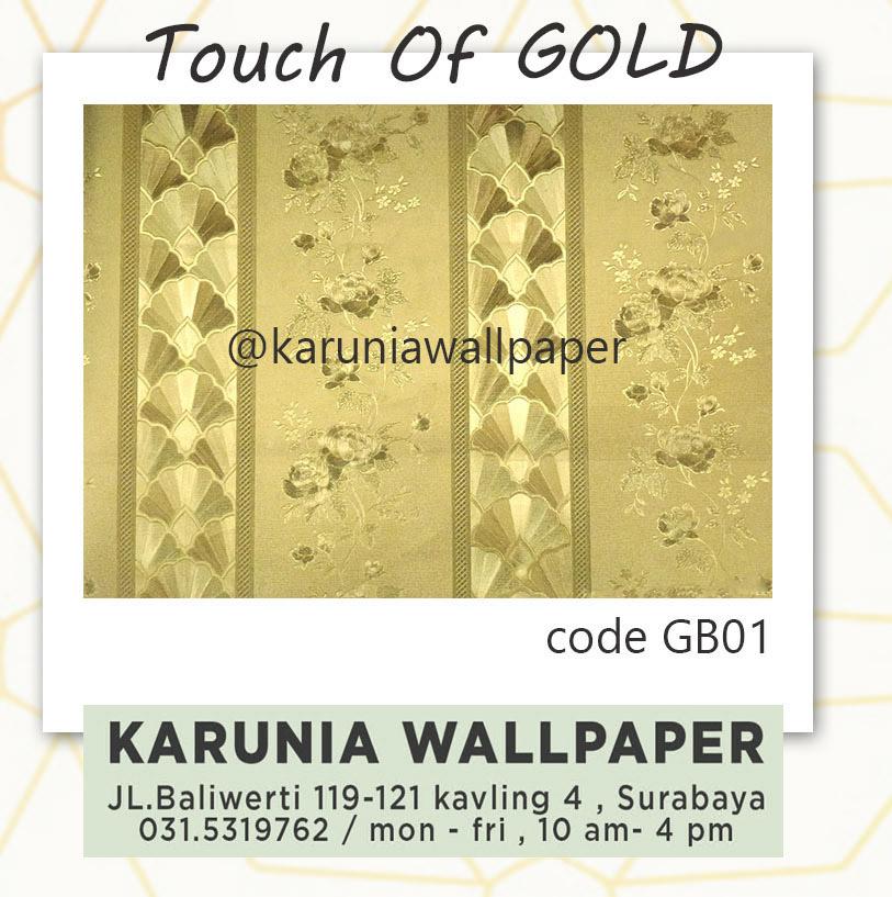 jual wallpaper emas