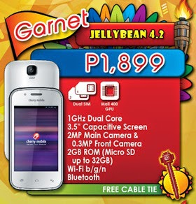 Cherry Mobile Garnet: Specs, Price and Availability
