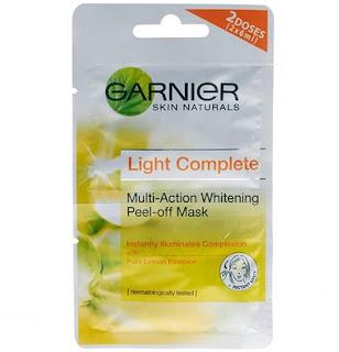 Harga Garnier Multi Action Whitening Peel Off Mask