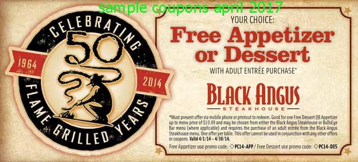 Black angus coupons 2019