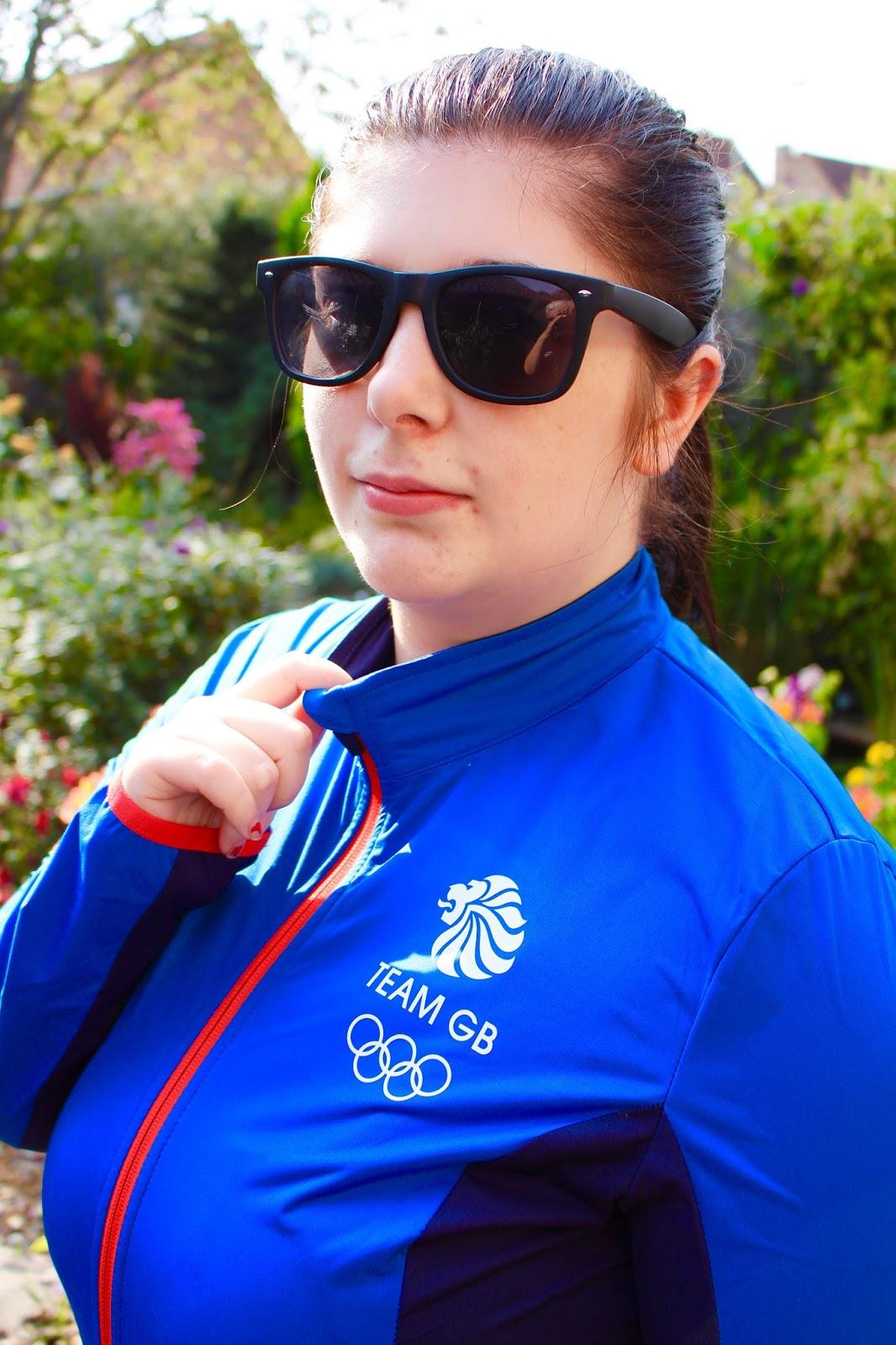 team gb aldi cycling jacket size 18