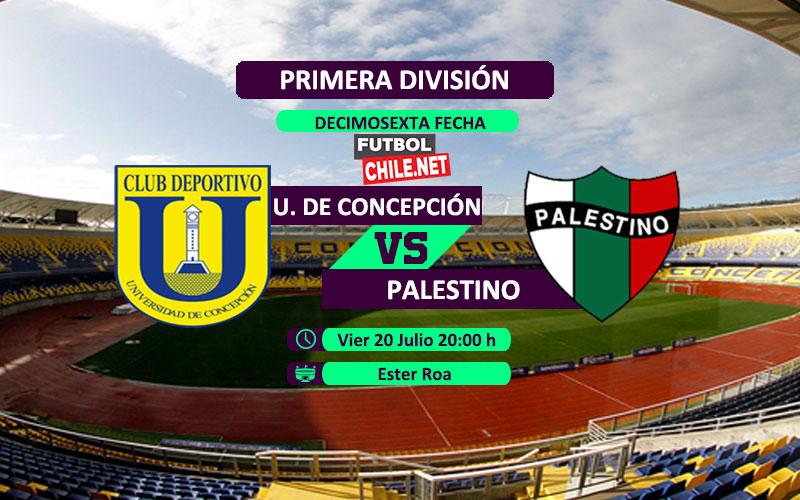 Mira Universidad de Concepción vs Palestino en vivo y online por la Primera División