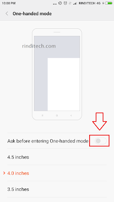 How to Activate One-handed mode in Xiaomi Redmi Note 3 Pro