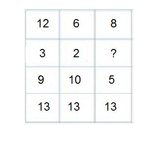 find missing number-reasioning-4