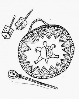 Ojibwe hand drum