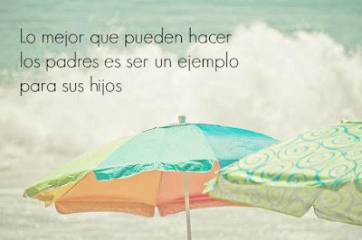 """""""Lo mejor que pueden hacer los padres es ser un ejemplo para sus hijos"""" (Sergio Fernández)"""