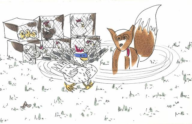 Cuento sobre un lobo y su amistad con las gallinas