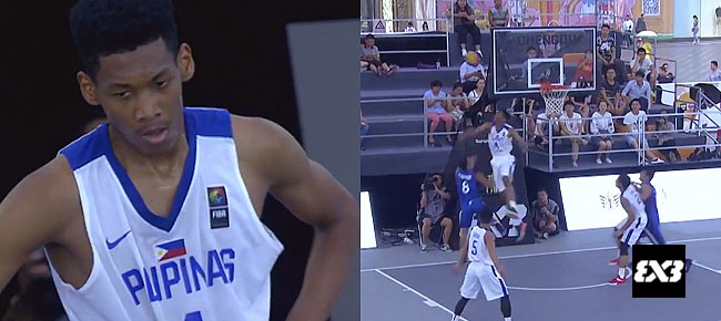 Fil-Nigerian AJ Edu with the MONSTER Block!! (VIDEO) FIBA 3x3 U18 World Cup 2017