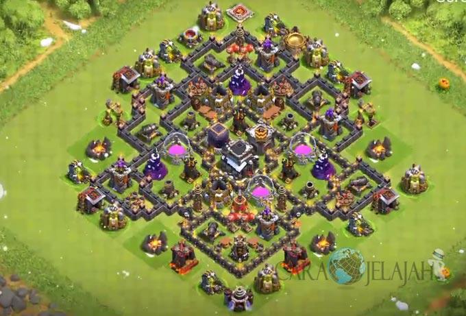 Base Farming TH 8 Clash Of Clans Terbaru 2017 tipe 6