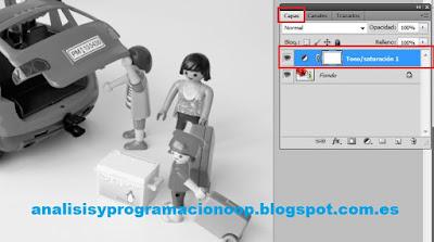 crear nueva capa tono/saturación con Photoshop
