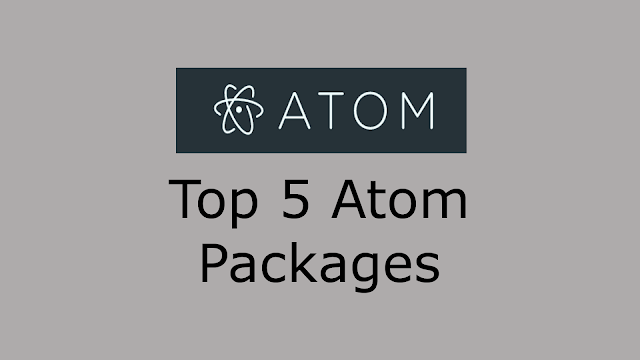 Top 5 Atom Packages Image