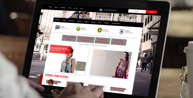 Email invoice checkout shopping cart blogger template