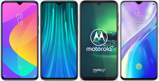 Xiaomi Mi 9 Lite vs Xiaomi Redmi Note 8 Pro vs Motorola Moto G8 Plus vs Realme XT