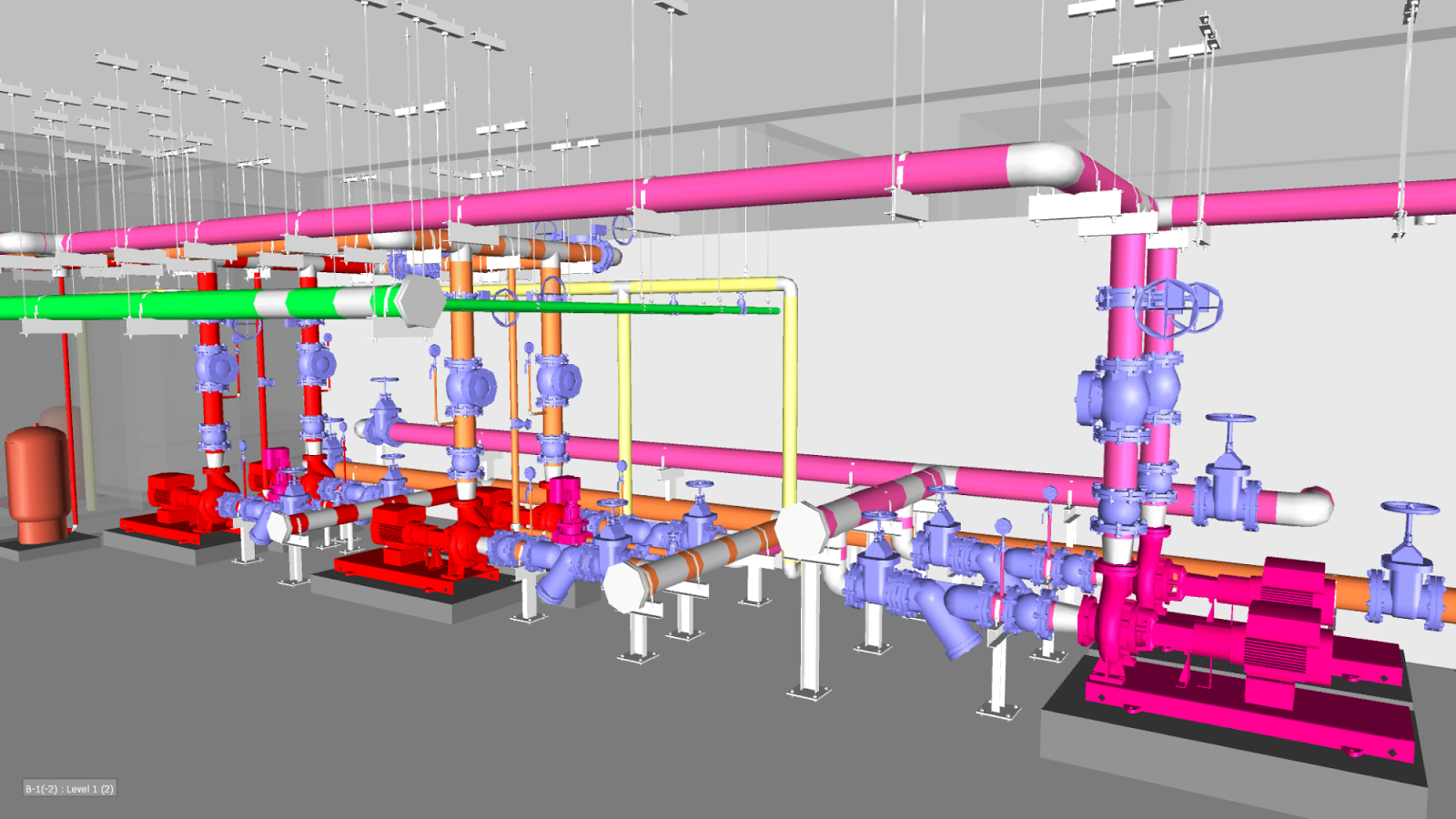 Fire Pump Room AutoCAD Drawings, dwg Layouts for Pump Room