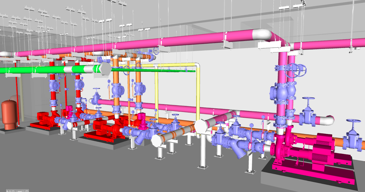 Fire Pump Room Autocad Drawings Dwg Layouts For Pump Room