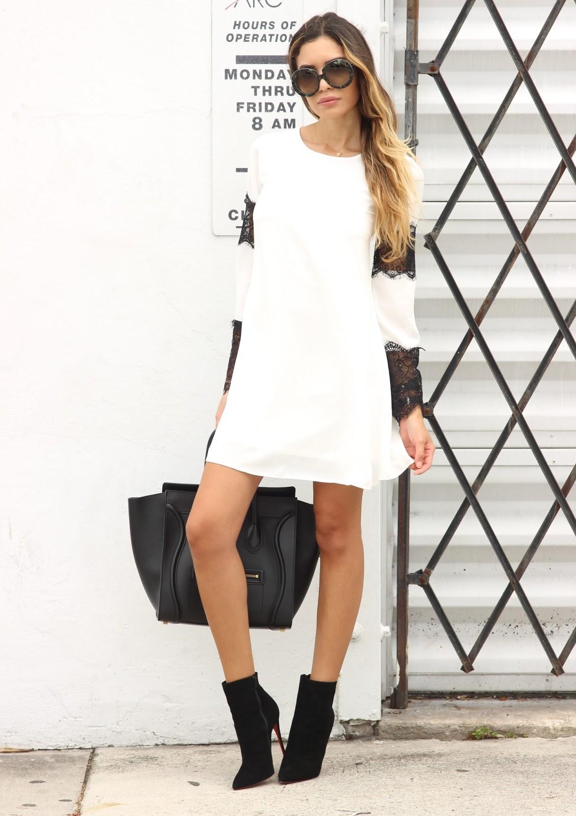7742329f10be Jasmine Tosh Lately   Little White Dress With Lipsy London