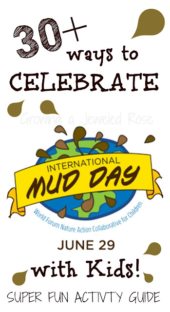Celebrate International Mud Day with these 25 super fun ways to play in the dirt & mud- Can I play too?  These ideas so make me want to be a kid again!