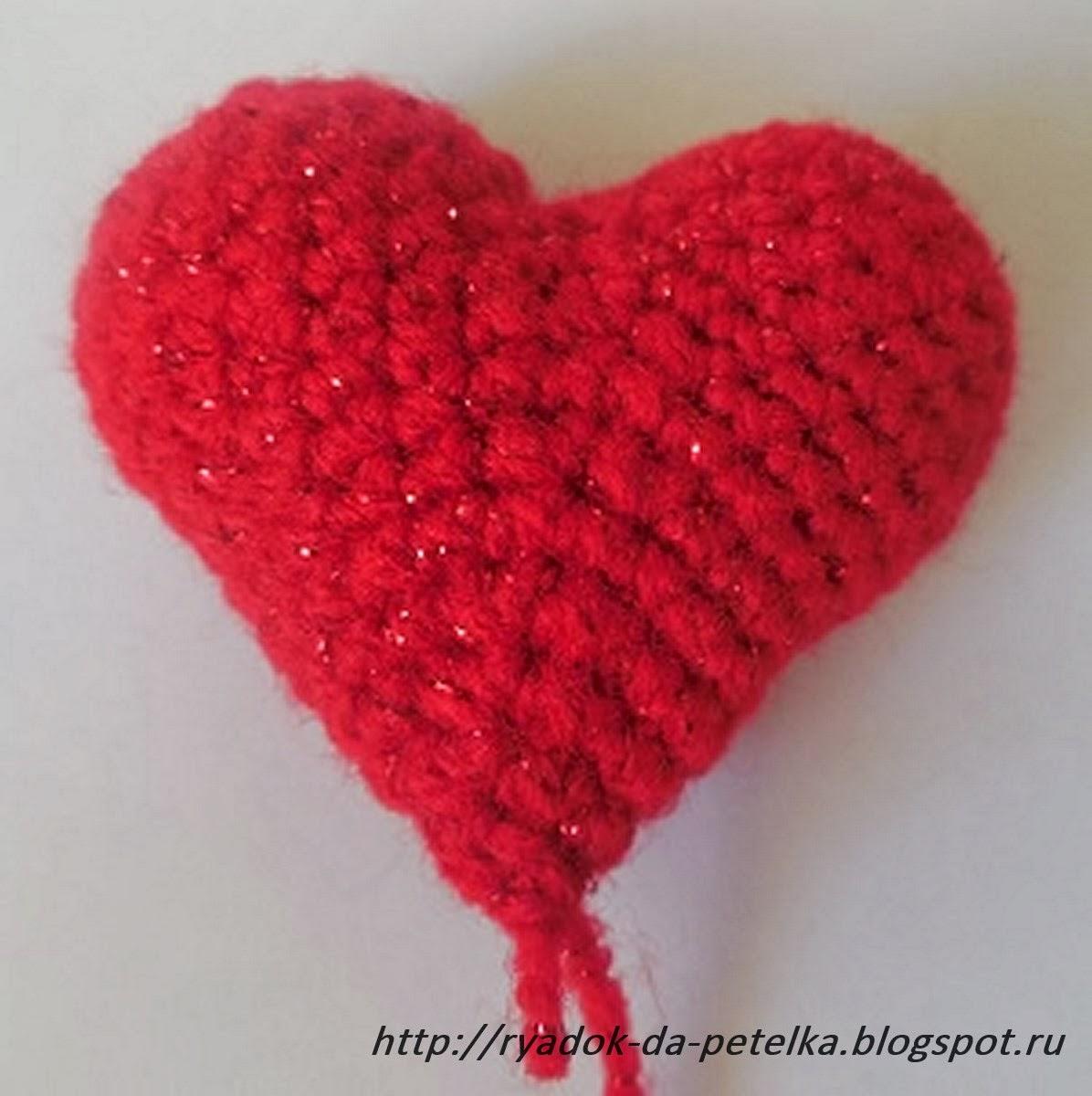 Объемное сердце крючком схема фото 980