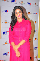 Sree Mukhi in Pink Kurti looks beautiful at Meet and Greet Session at Max Store (9).JPG