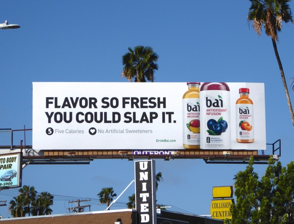 Bai Flavor so fresh slap it billboard