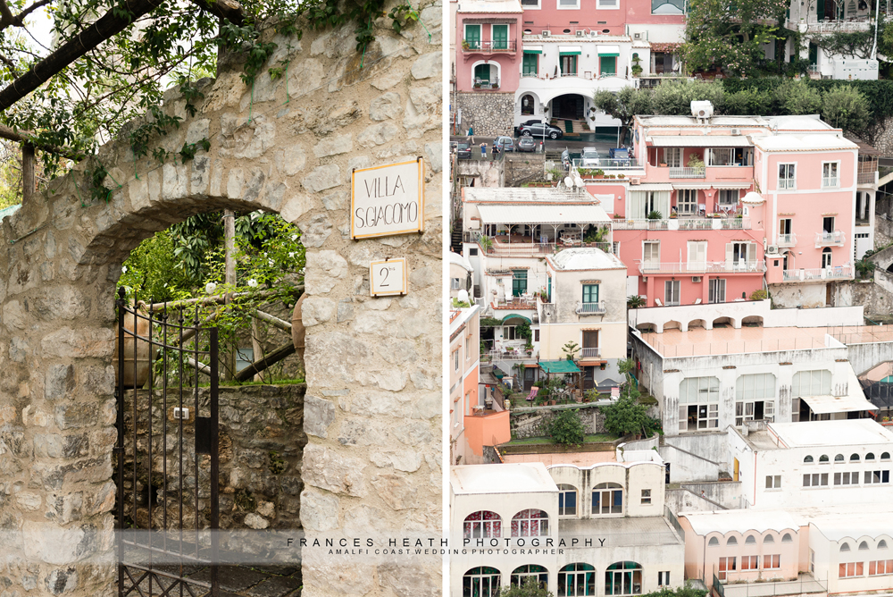 Positano villa wedding