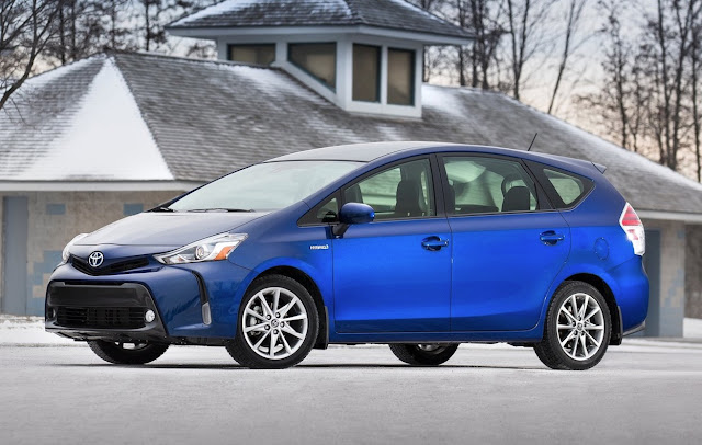 2015 Toyota Prius V blue