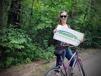 Biking with Banners - Itasca State Park | Banners.com