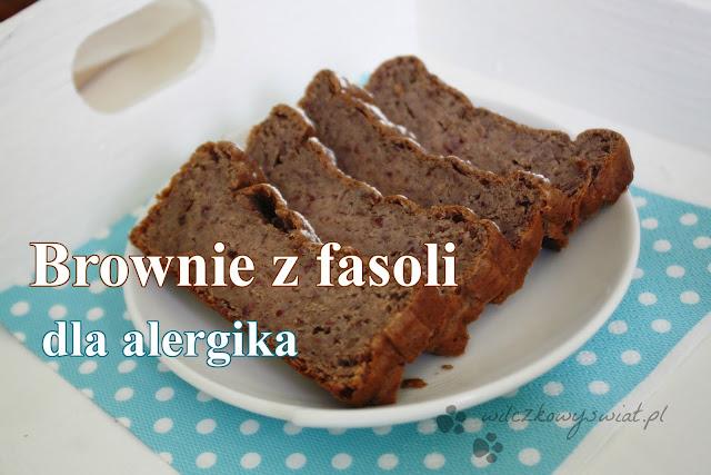 Brownie z fasoli dla alergika