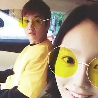 SNSD TaeYeon with Brother