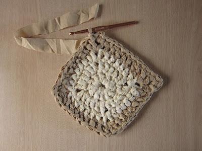 crochet, fabric scrap, rug